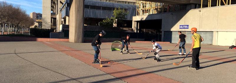 les sessions libres roller Hockey avec l'ASGUM