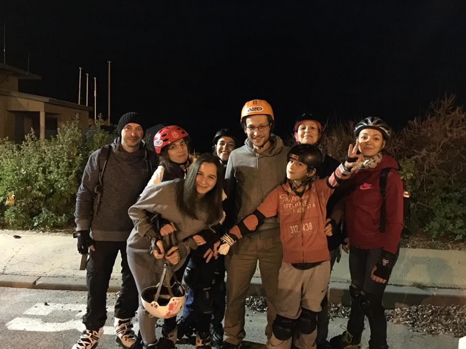 Rando roller ASGUM : Fred Jenny Fiona Philou Sabate, Thomas Mansouri, Alix, Carine Barlesi, Maryelle