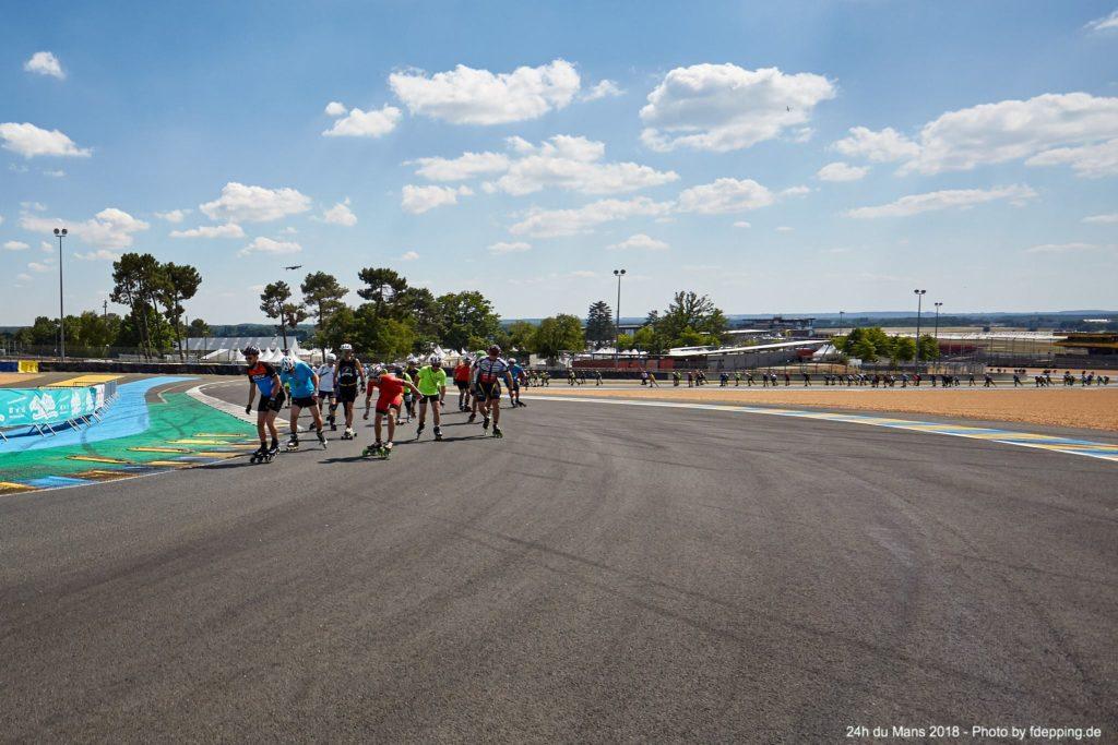 Montée du dunlop des 24h du Mans rollers 2018