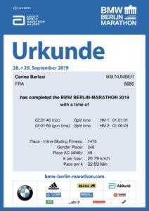 Carine Barlesi, Berlin Legend 2019, Roller Marathon, ASGUM