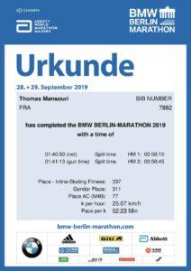 Thomas Mansouri, Berlin Legend 2019, Roller Marathon, ASGUM